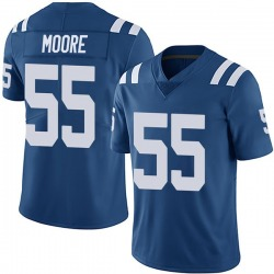 Nike Skai Moore Indianapolis Colts Youth Limited Royal Team Color Vapor Untouchable Jersey